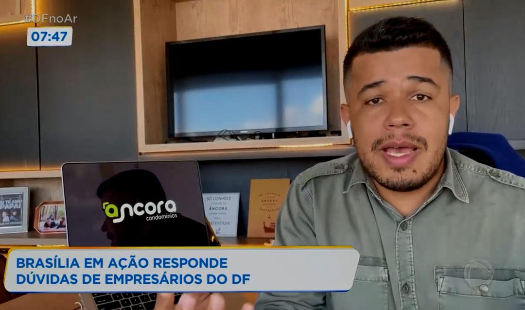 Diretor da Âncora no Programa Brasília em Ação na TV Record